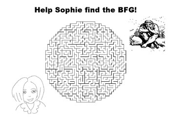 Help Sophie find the BFG maze puzzle