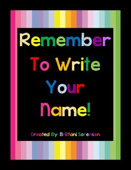 Help Students Remember to Put Their Name on Their Papers