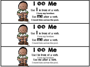 Help Students Understand how to use I vs Me