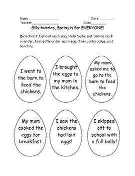 Help Susie save Spring! Sequencing Activity! Common Core aligned Gr 2 and 3
