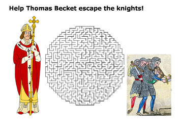 Help Thomas Becket escape maze puzzle