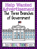 Three Branches of Government & Constitution Project: Help Wanted Ad