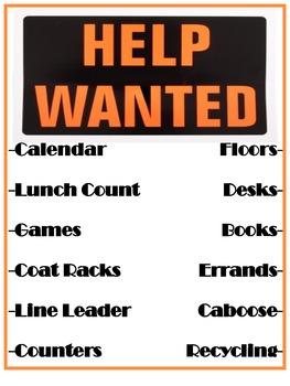 Help Wanted Class Job Board