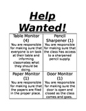 Help Wanted Class Jobs Labels.