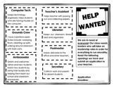 Help Wanted :Classroom Jobs Brochure