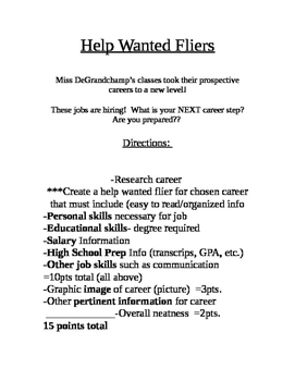 Help Wanted Fliers