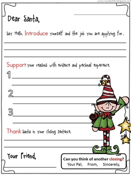 Help Wanted: Part-Time Elf (North Pole Times Persuasive Writing)