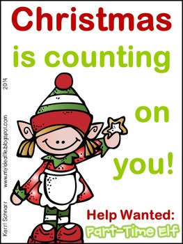 Christmas Help Wanted.Help Wanted Part Time Elf North Pole Times Persuasive Writing