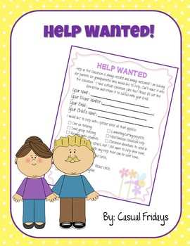 Help Wanted - Sign Up for Classroom Help