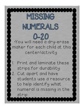 Help!  What's Missing? Help the Community Helper Find the Missing Number/Letter.