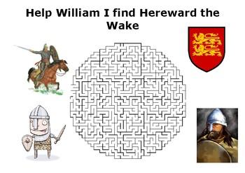 Help William I find Hereward the Wake maze puzzle