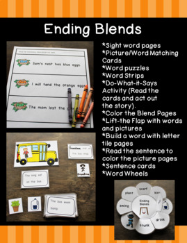 Help a Child to Read Series Set 9:  Ending Blends