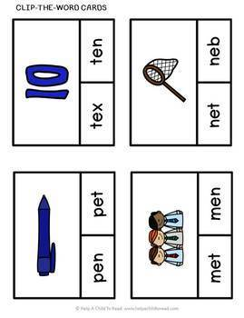 CVC Words Short e (Help a Child to Read Series Set 5)