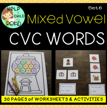 Help a Child to Read Series Set 6: Mixed CVC and Adding s