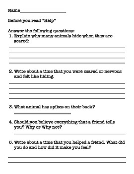 """Help!"" by Holly Keller -Spelling, Vocabulary, study guide to match Wonders"