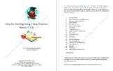 Help for the Beginning / New Teacher!