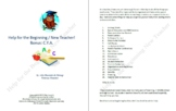 Help for the Beginning / New Teacher! Bonus C.Y.A