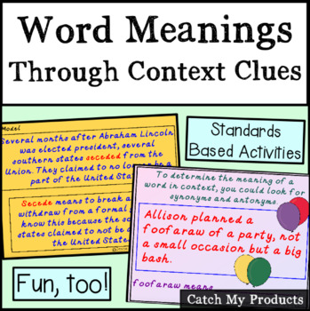 Help in Finding Word Meanings Through Context Clues for Promethean Board