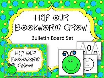Help our Bookworms Grow! Bulletin Board Set. Reading Library Board.
