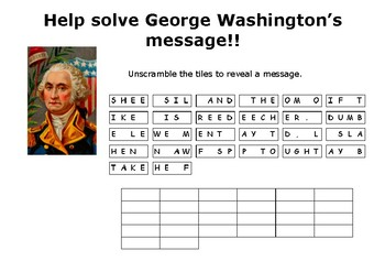 Help solve George Washington's message