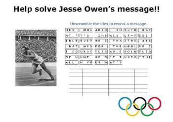 Help solve Jesse Owen's special message!!