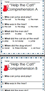 """Help the Cat!"" Pre-Primer Sight Word Story Reader"