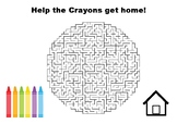 The Day the Crayons Came Home Maze Puzzle Activity