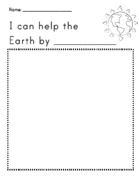 Help the Earth: Journal Activity