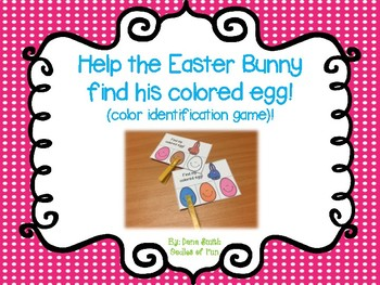 Help the Easter Bunny find his colored egg! (color identifcation game)