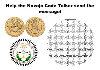 Help the Navajo Code Talker send the message maze puzzle