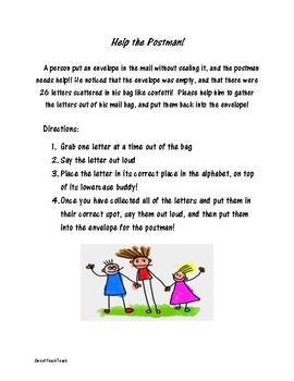Help the Postman! Alphabet Matching