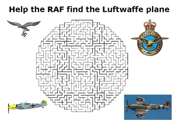 Help the RAF find the Luftwaffe plane maze puzzle - Battle of Britain