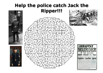 Help the police catch Jack the Ripper maze puzzle