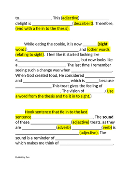 Help with Essays and Stories FILL-IN the Blank Essays
