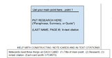 Research: Note cards and in-text citations!