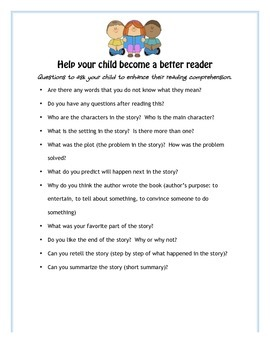 Help your child become a better reader (improving reading comprehension)