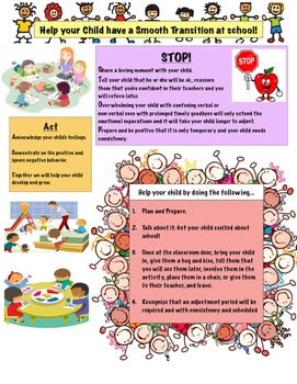 Help your child have a smooth transition at school!
