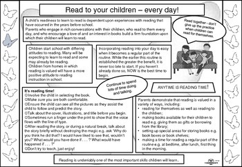 Help your child read: Newsletters for parents of beginning readers