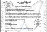 Help your child read: Newsletters for parents of beginning