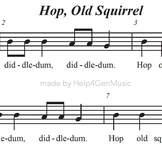 Help4GenMusic's Recorder Karaoke - Hop Old Squirrel (print
