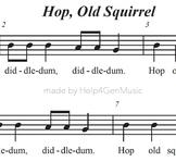 Help4GenMusic's Recorder Karaoke - Hop Old Squirrel (print
