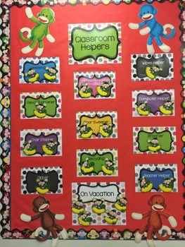 Helper Chart Signs-job posters for up to 10 helpers! Polka Dot design