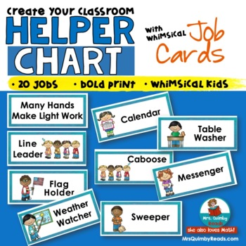 Helper Chart for Classroom Organization - Grades PreK-3