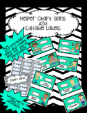 Helper Chart with Pictures & Editable Labels- Teal, Black and Chevron