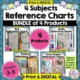 Reference Charts  Math ELA Social Studies & Science BUNDLE
