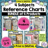 Reference Sheets Math, ELA, Social Studies, Science Reference Helpers & DIGITAL