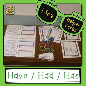 Helper Verbs Have Has Had