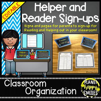 Helper and Reader Sign-ups, Aqua and Chalkboard theme