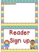 Helper and Reader Sign-ups ~ Chevron Rainbow Print with white background