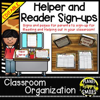 Helper and Reader Sign-ups ~ Jungle/Safari Theme